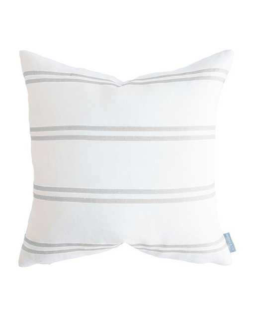 """FRANKLIN GRAY STRIPE PILLOW COVER - 20"""" x 20"""" - McGee & Co."""