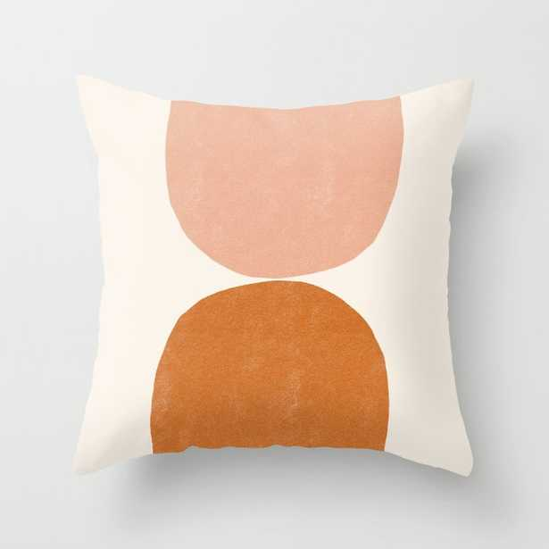 Terracotta Mid Century Modern Abstract Throw Pillow - Society6
