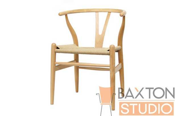 BAXTON STUDIO WISHBONE CHAIR - NATURAL WOOD Y CHAIR (Set of 2) - Lark Interiors