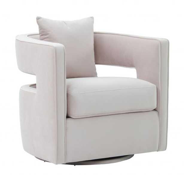 Daniela Blush Velvet Swivel Chair - Maren Home