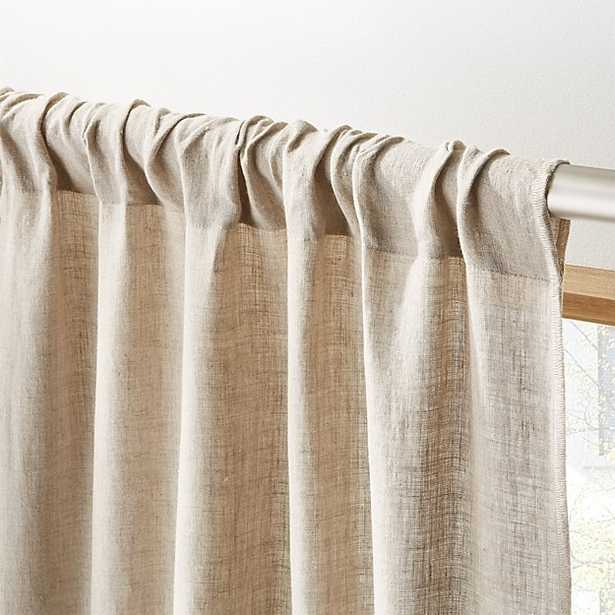 "Natural linen curtain panel 48""x96"" - CB2"