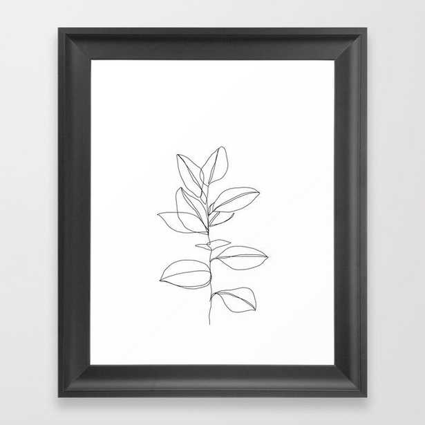 One line plant illustration - Dany Framed Art Print by Thecolourstudy - Society6