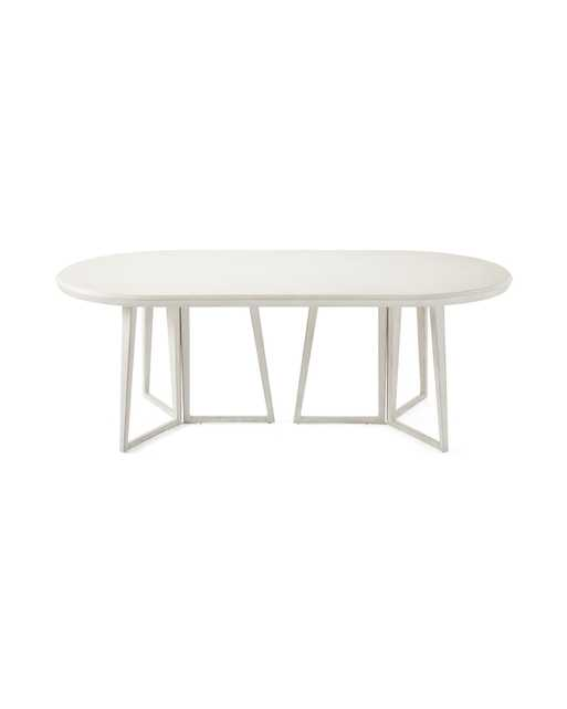 Downing Oval Dining Table -Salt Spray - Serena and Lily