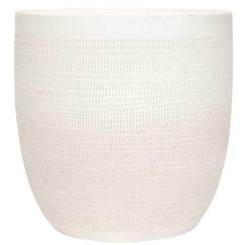 Keech Large Embossed Ceramic Pot Planter - Wayfair