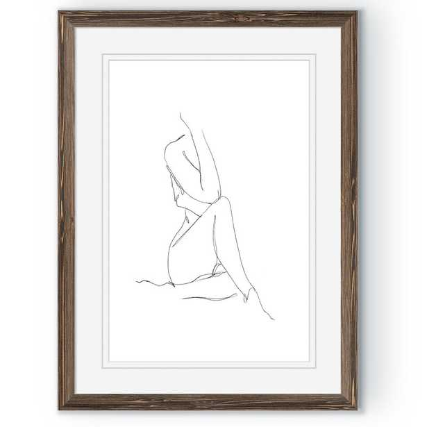 'Nude Contour Sketch I' by Paul Cezanne - Picture Frame Painting Print - Wayfair