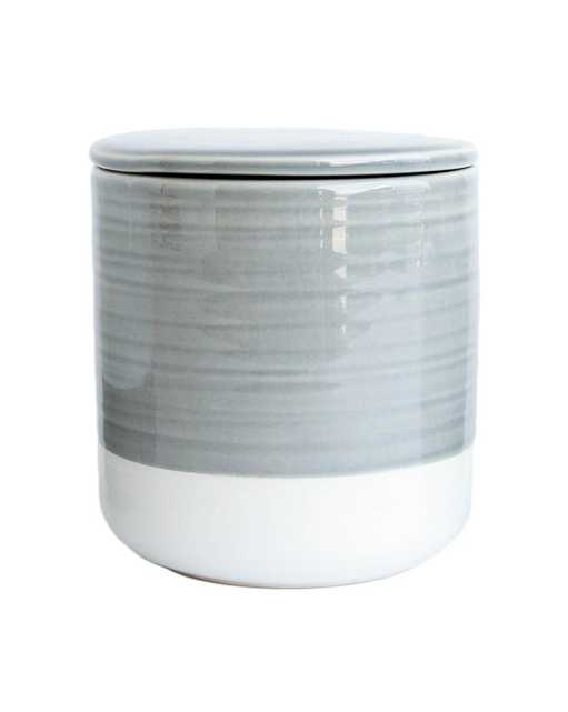 WHITE & GRAY CANISTER, MEDIUM - McGee & Co.