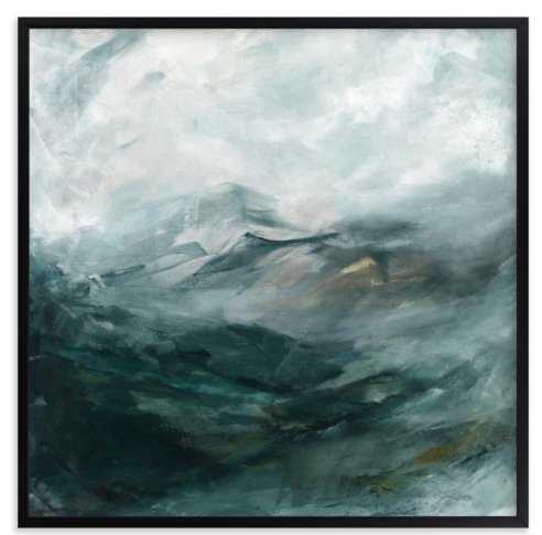 """ice canyon, 30"""" with Rich Black Wood Frame - Minted"""