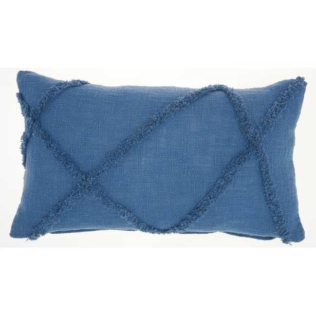 Remi Cotton Abstract Lumbar Pillow - insert included - Wayfair