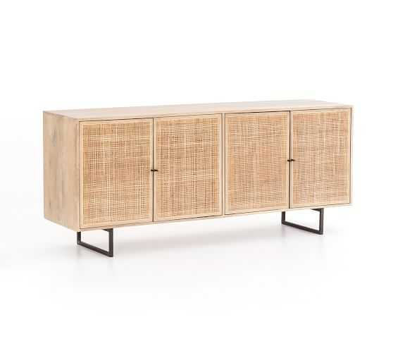 Dolores Cane Console, Natural - Pottery Barn