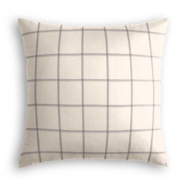 """Throw Pillow End of the Line - Ash 24"""" x 24"""" - Loom Decor"""