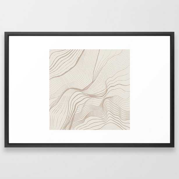 Canyon Lines II Framed Art Print - Society6