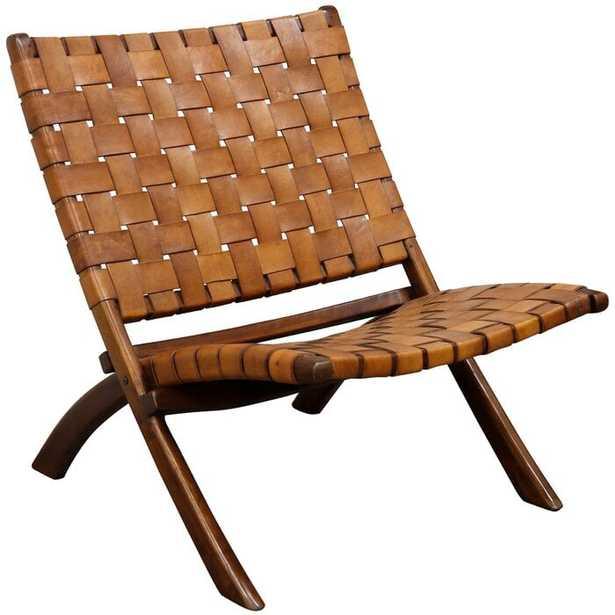 Baez Mid Century Modern Lounge Chair in Cognac - Wayfair