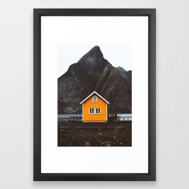 Yellow Cabin Framed Art Print - Society6