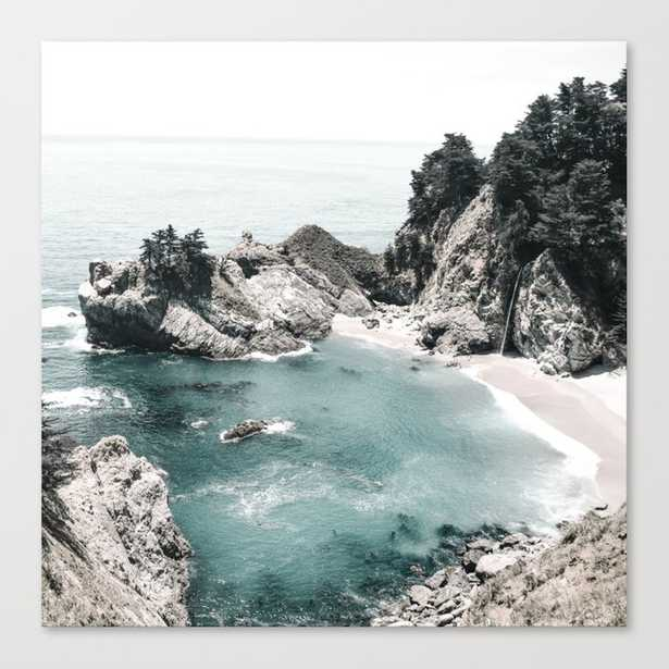 California Beach Canvas Print, 24 x 24 - Society6