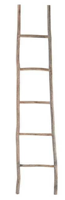Wood White Washed 5.5 ft Decorative Ladder - Wayfair