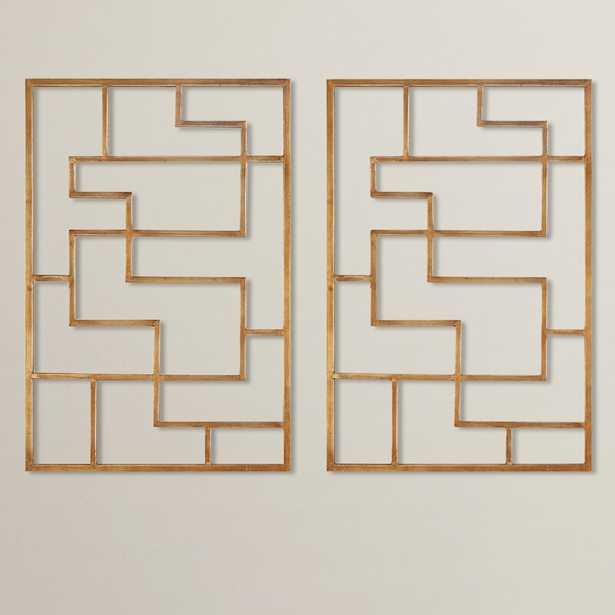 Quaid Gold Framed Wall Art (Set of 2) - Wayfair