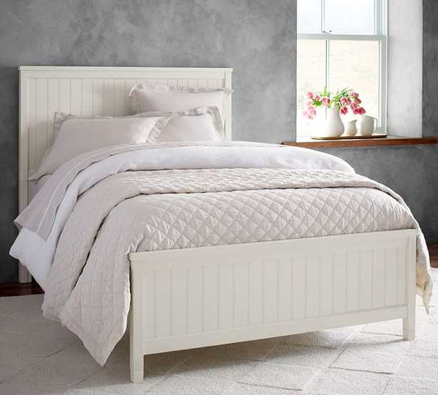 Beadboard Platform Bed, Queen, Simply White - Pottery Barn Teen