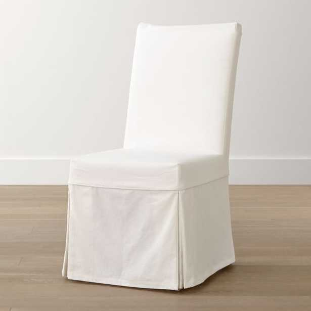 Slip White Slipcovered Dining Chair - Crate and Barrel
