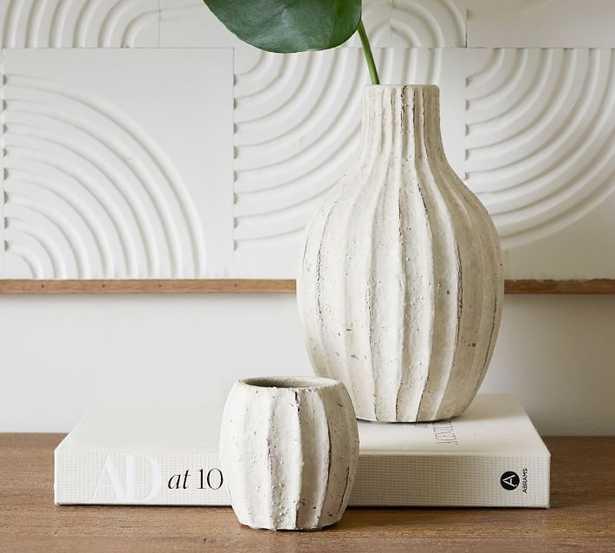 Artisan Hand Painted Terra Cotta Bud Vases - Set of 2 - Pottery Barn