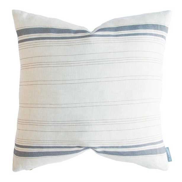 """FRENCH STRIPE PILLOW WITHOUT INSERT, 20"""" x 20"""" - McGee & Co."""