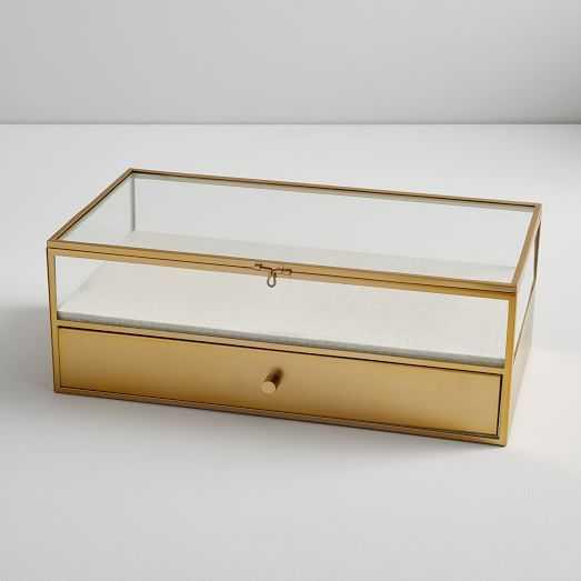 Terrace Shadow Box - Brass (Large Rectangle) - West Elm