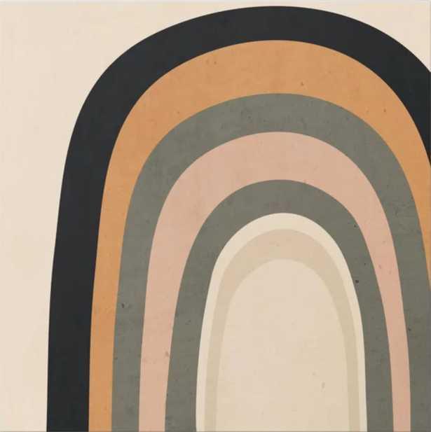 "abstract minimal Rainbow Canvas Print, 24"" X 24"" - Society6"