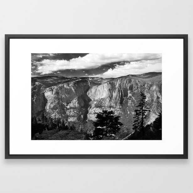 Mountains of Yosemite National Park - Vector Black - Society6