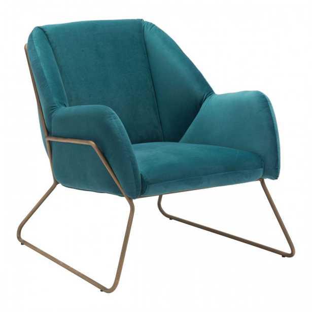 Stanza Arm Chair Green Velvet - Zuri Studios