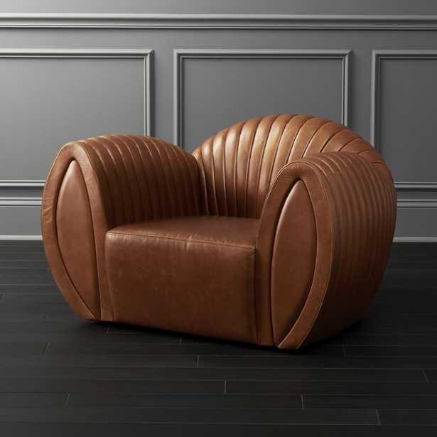 Leather Shell Armchair - CB2