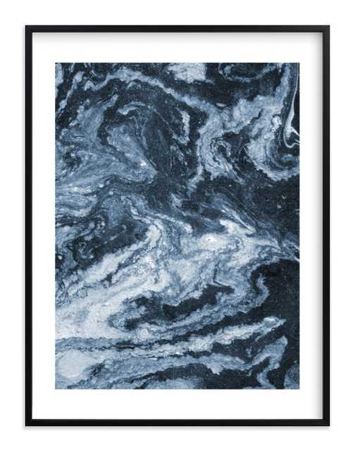 """flow no. 3 - Framed artwork with white border - 30""""x40"""" - Minted"""