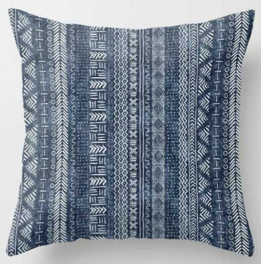 """Mud Cloth Stripe 20"""" Indoor Throw Pillow / with insert - Society6"""