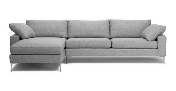 Nova Winter Gray Left Sectional Sofa - Article