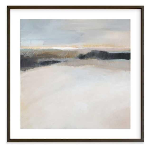 "A Winter's Walk  30"" x 30"" Matte Black Frame White Border - Minted"