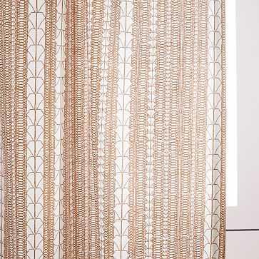 "Echo Print Curtain, Set of 2, Gold Dust, 48""x84"" - West Elm"