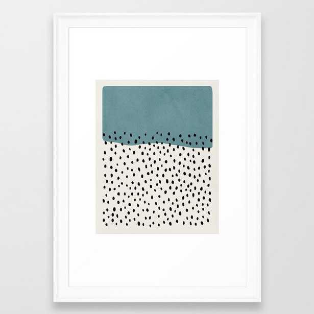 Rain, Abstract, Mid century modern kids wall art, Nursery room Framed Art Print - Society6