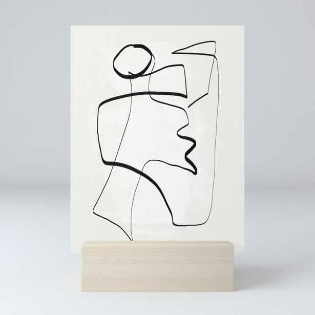 Abstract line art 6 Mini Art Print - Society6