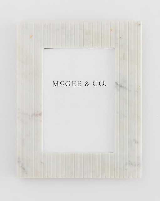 Marble Pinstripe Frame, 5x7 - McGee & Co.