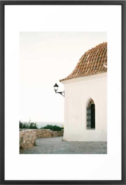 "Travel photography ""Ibiza white"" Framed Print - 26x38 - Society6"