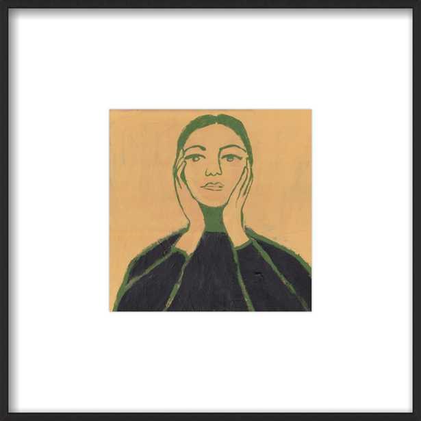 "Maria Callas- 8""x8"" Contemporary Matte Black  Metal Frame with Matte - Artfully Walls"