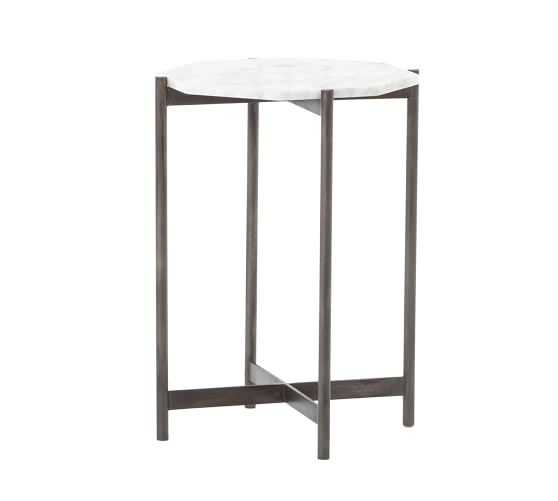 Montague Marble End Table, Ivory - West Elm