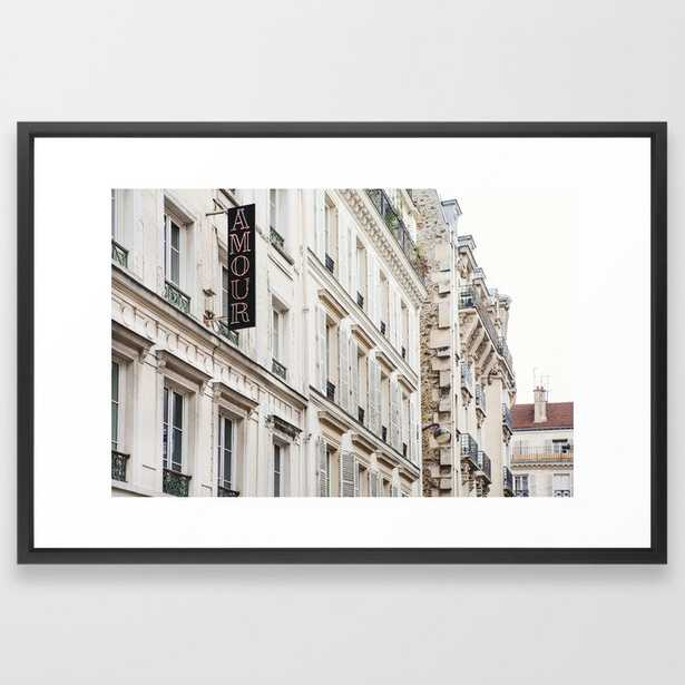 Hotel Amour in Montmartre, Paris Photography Framed Art Print - Society6