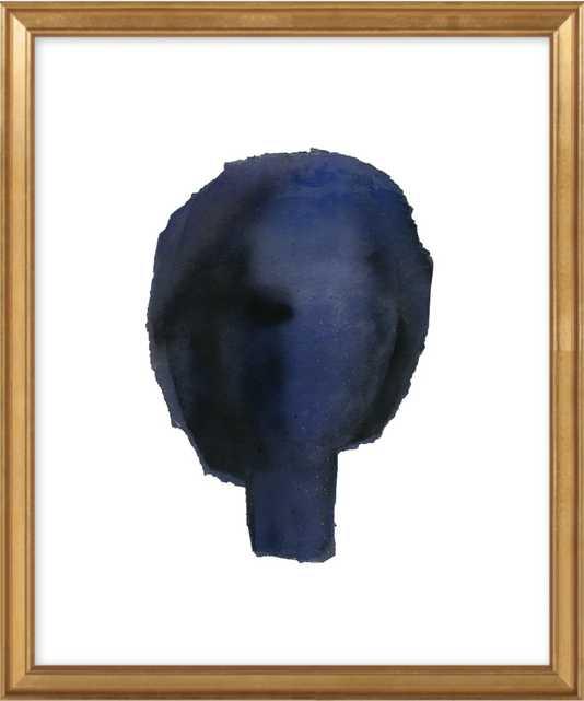 Blue Head - Gold Leaf Frame - Artfully Walls