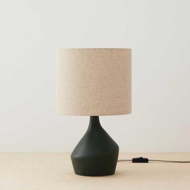 "Asymmetry Mini Table Lamp, 16.5"", Black - West Elm"