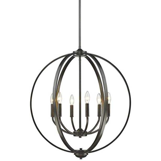 "Colson 25 3/4"" Wide Etruscan Bronze 6-Light Orb Chandelier - Lamps Plus"