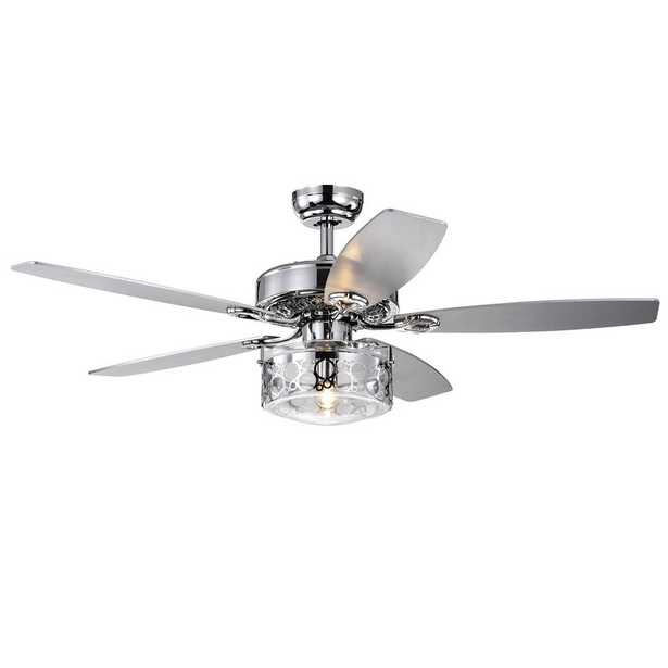 """52"""" Beebe 5 Blade Ceiling Fan with Remote, Light Kit Included - Wayfair"""