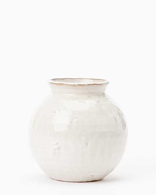 Rounded Ceramic Vase, Medium - McGee & Co.