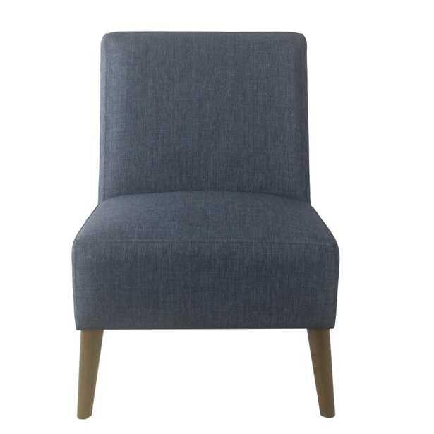 Sicily Side Chair, Navy, Dark Walnut - Wayfair