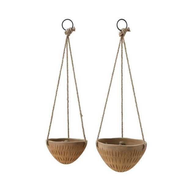 Kadyn Round Terracotta Hanging Planter - Wayfair