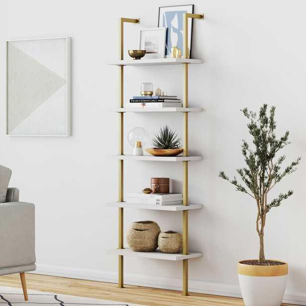 Mederos 72.5'' H x 24'' W Steel Ladder Bookcase - Wayfair