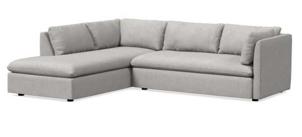 Shelter Left 2-Piece Terminal Chaise Sectional - West Elm